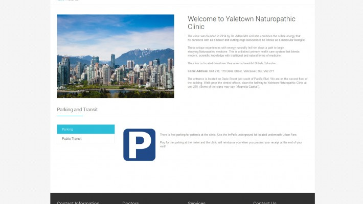 Yaletown Naturopathic Clinic Launches New Website