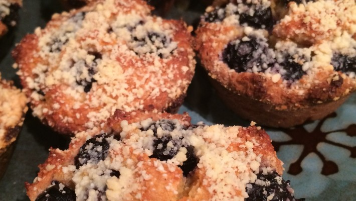 Grain-free Blueberry Crumb Muffins