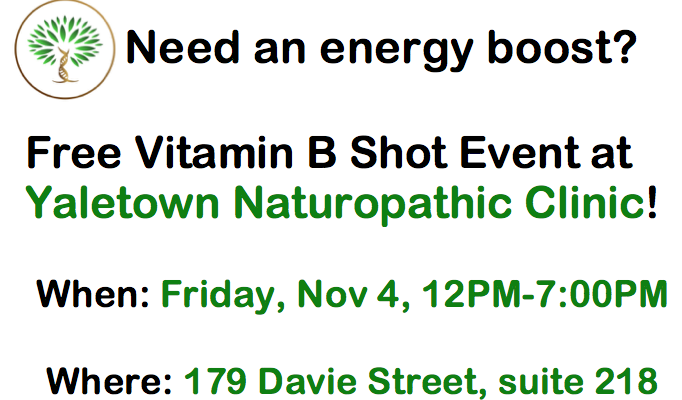 Free B Shot Event on November 4, 2016!