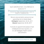 September Nonprofit trip to Skidegate and Masset Sept 28-30, 2017